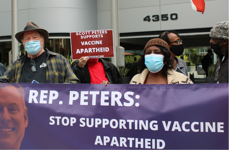 Scott Peters Vaccine Apartheid